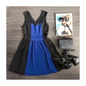 Blue black summer dress